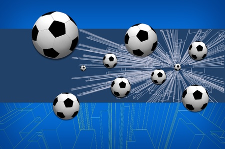 digital art: stylish conceptual digital soccer