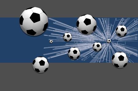 stylish conceptual digital soccer photo