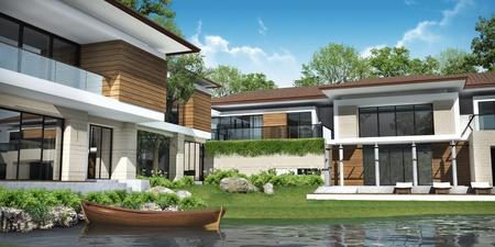 3D-Darstellung von Gebäude