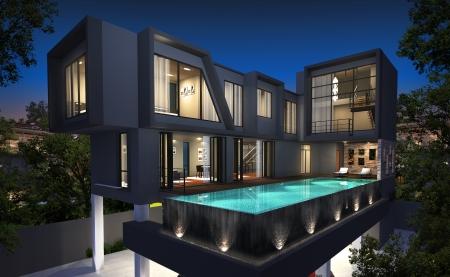 3d render of building  photo