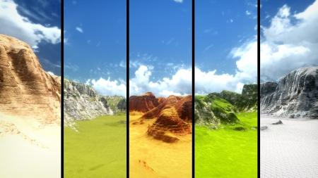 3d landscape view  Stock Photo
