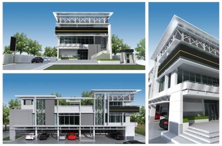 3d render of building Imagens - 16511586