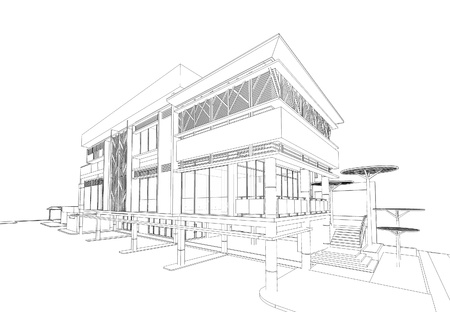 building exterior: Wireframe of building