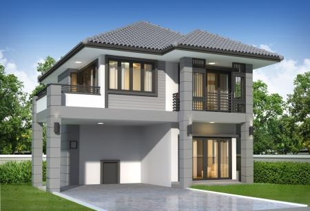 3d render of building Stock Photo - 16511689