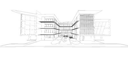 housing development: Wireframe of building