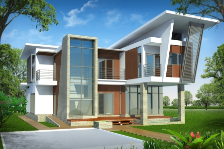 architecture drawing: 3d of building