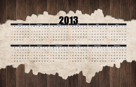 2013 year wood calendar  photo