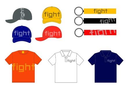 Fight shirt, gap, keyhole design template Stock Vector - 17102908