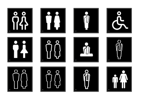 Toilet symbols illustration