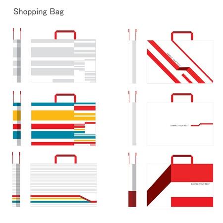 reusable: set of Shopping bag design  Illustration