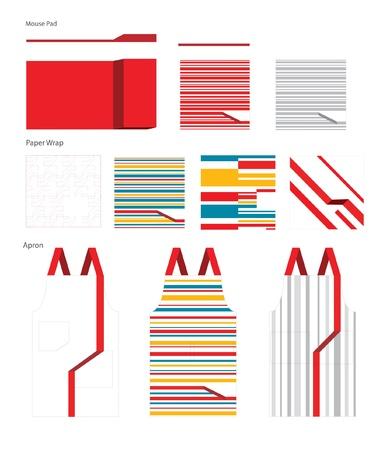 mouse pad: Collection apron, paper wrap, mouse pad