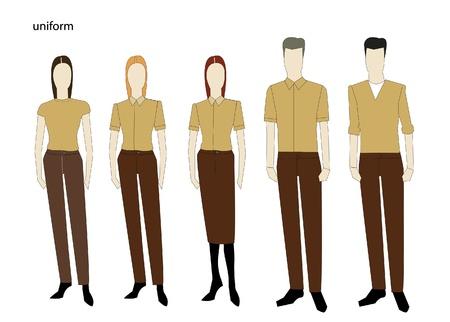 uniforme: El conjunto uniforme completo Aislado sobre fondo blanco