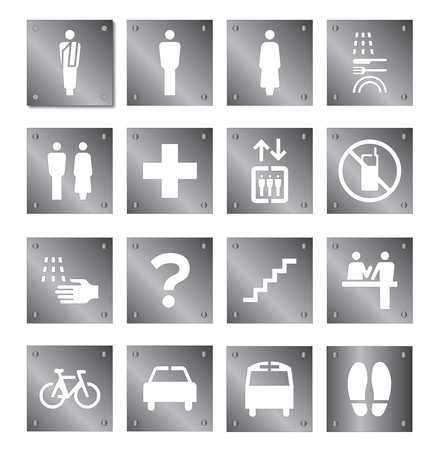 Stencil pictogram set  Vector