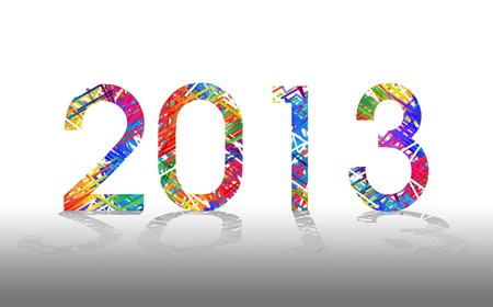 Happy New Year - 2013 colorful background  photo