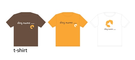 Dog T-shirt design template  Stock Vector - 17137656