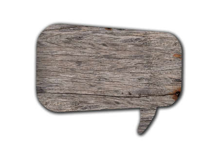 Blank Speech Bubble wood  photo