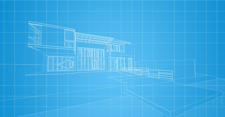 3d wireframe of building photo