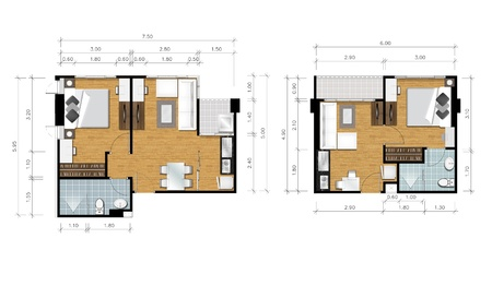 tree plan: Proposal planning of house Stock Photo