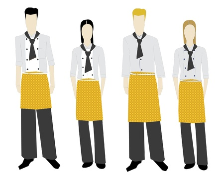 The female and man s form of clothes Illustration