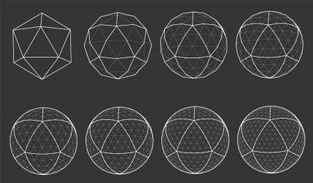 wireframe globe: wireframe of sphere Illustration