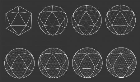 wireframe of sphere Stock Vector - 18852554