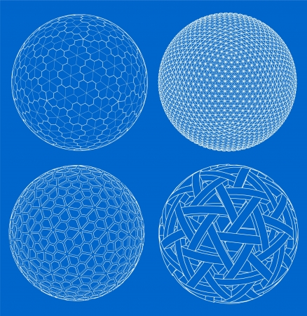 sphere icon: Wireframe of sphere