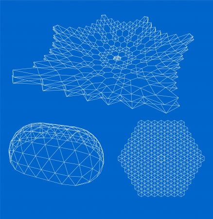 wireframe globe: 3d abstract Wireframe