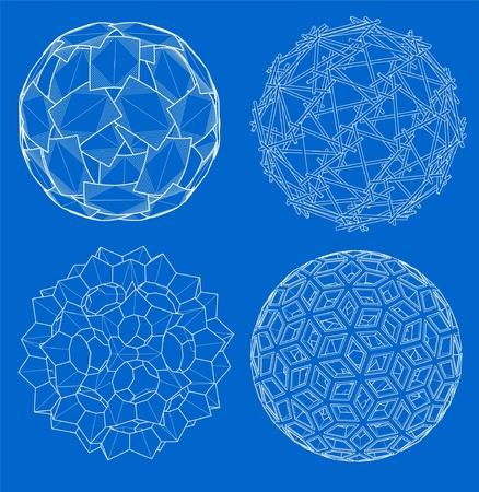 球のワイヤ フレーム