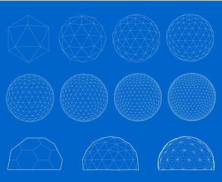 Wireframe of sphere