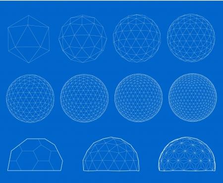 globe grid: Wireframe of sphere