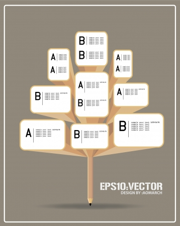 infographic of ecology, concept design with tree  Vector