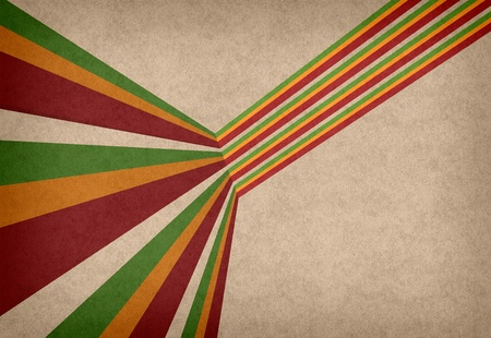 background with classic reggae colors