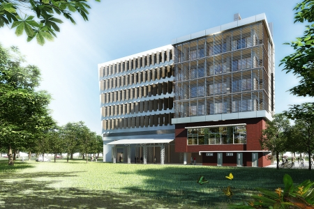 3D render of a building  photo
