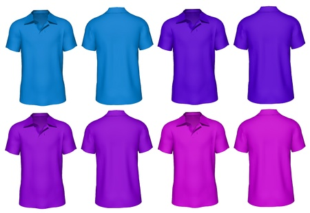 3d Men s T-shirt in various colors Stock Photo - 20262081