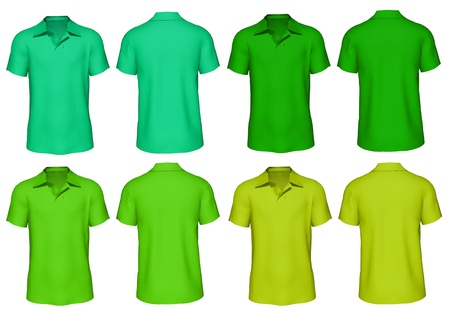 men s: 3d Men s T-shirt in various colors  Stock Photo