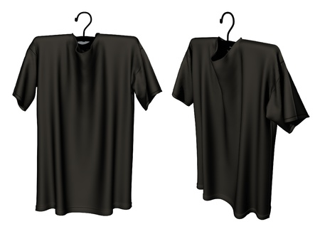 black T-shirt design template  Stock Photo - 20404906