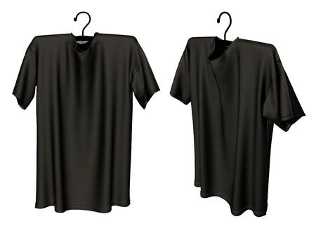 black T-shirt design template Stock Photo - 20404906