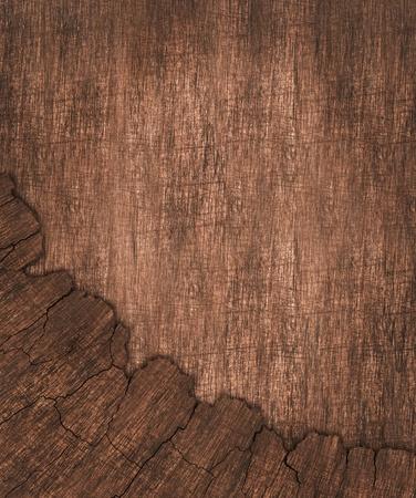 cut logs: cracked wood board