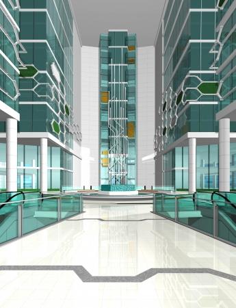 empty corridor in bright colors Imagens - 20871703