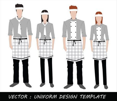 The Uniform black and white Complete Set  Stock Vector - 20871869