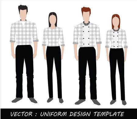The Uniform black and white Complete Set  Stock Vector - 20871870