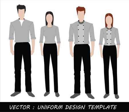 The Uniform black and white Complete Set  Stock Vector - 20871871