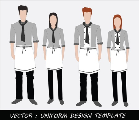 The Uniform black and white Complete Set  Stock Vector - 20871872