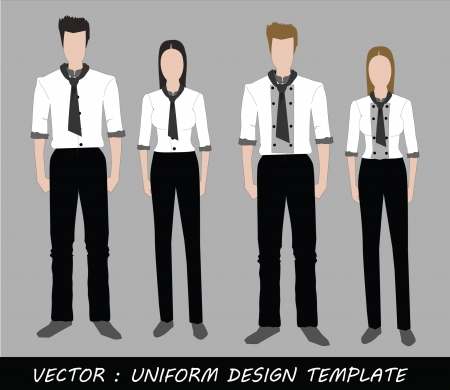 The Uniform black and white Complete Set  Stock Vector - 20871873