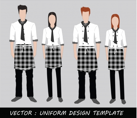 The Uniform black and white Complete Set  Stock Vector - 20871874