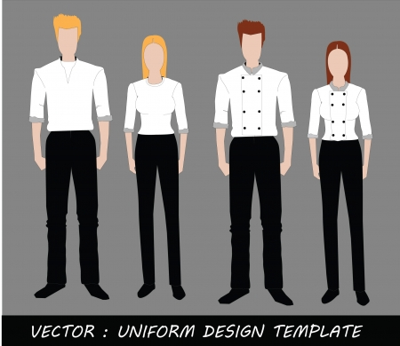 The Uniform black and white Complete Set  Stock Vector - 20871875