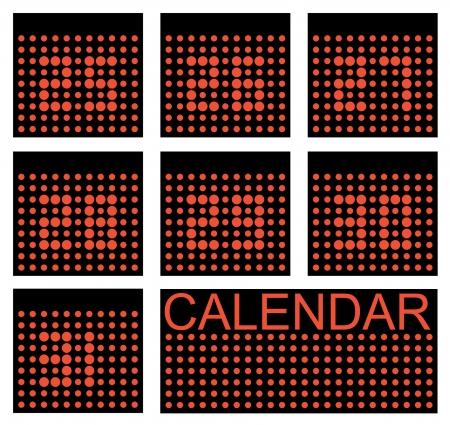 LED calendar Vector