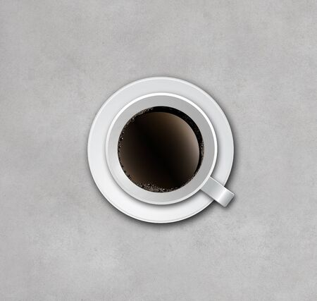 cup of coffee on concrete background  photo