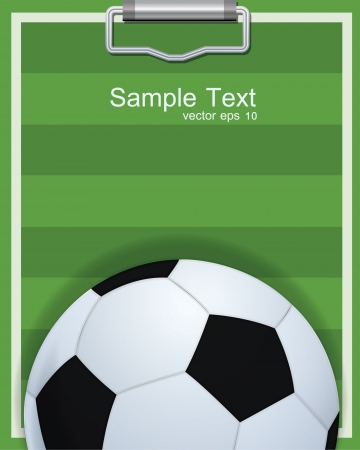 soccer ball on the field  Vector