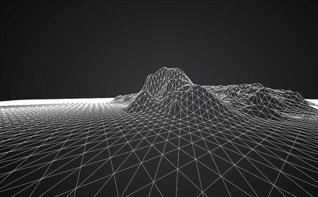 3D wireframe of contour swirl Imagens - 22019173